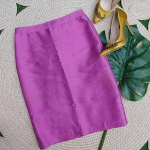 Dresses & Skirts - Gorgeous Silk Purple Pencil Skirt